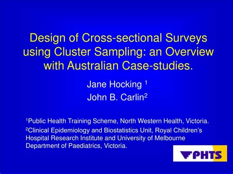 cross sectional surveys ppt design of cross sectional surveys using cluster