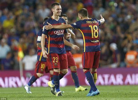 arsenal last match barcelona 1 0 malaga thomas vermaelen smashes in late