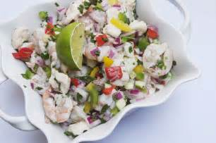 shrimp and grouper fiesta ceviche the pescetarian and the pig