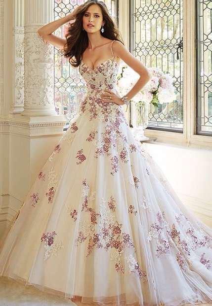 imagenes de vestidos de novia bordados vestido novia tul bordado flores vestido de novia