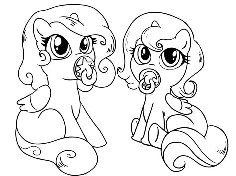 free coloring pages of baby my little pony