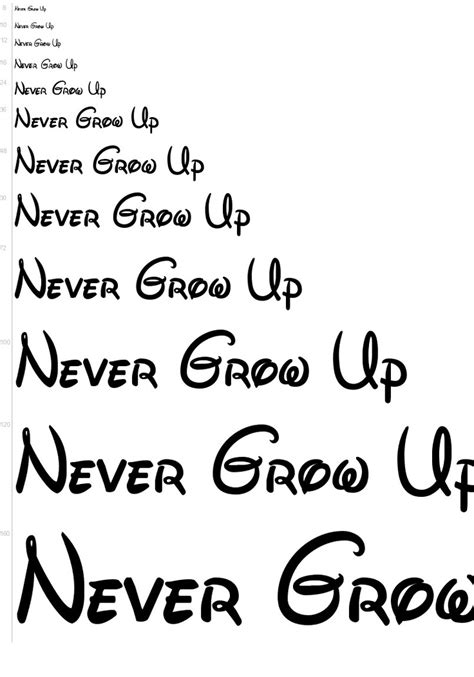 tattoo fonts disney never grow up disney font anyone
