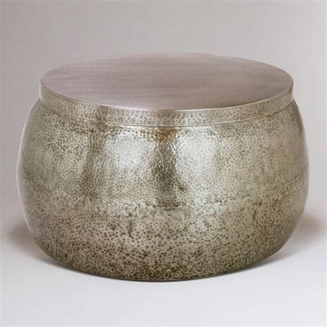 Cala Hammered Coffee Table Coffee Table With Storage Metals And Coffee On Pinterest