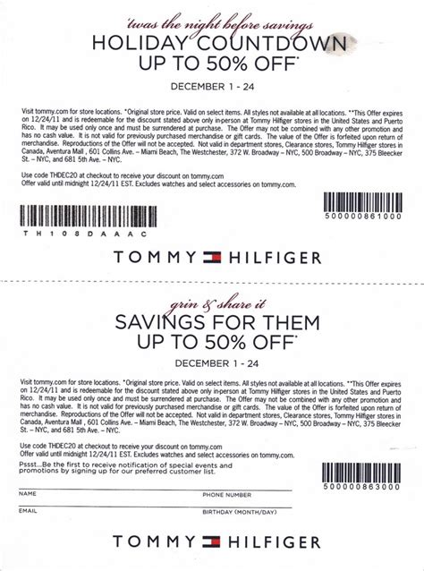 printable coupons for nautica outlet tommy hilfiger in store coupon printable coupons online