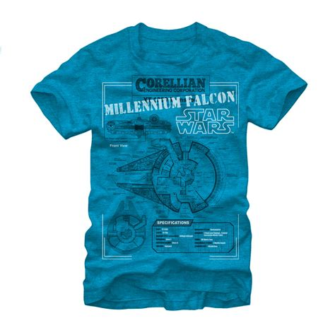 Details About T Shirt wars millennium falcon details mens graphic t shirt ebay
