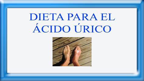 alimentos para acido urico dieta para el acido urico