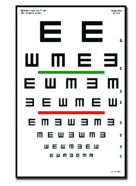 tavola optometrica per bambini tabla optom 233 trica tumbing e 6m 23x35 5 cm optotipos