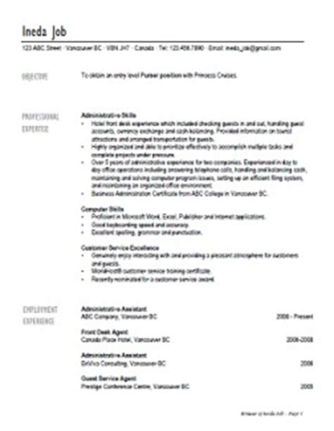 Resume Samples Youth by Cruise Ship Jobs Cruise Ship Employment Sample Resumes