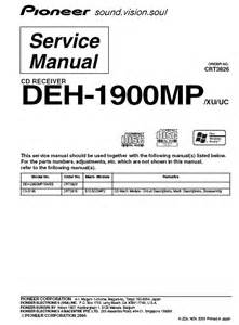 pioneer deh 1900mp cd receiver service manual pdf