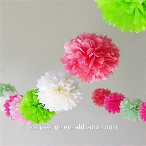 Handmade Tissue Paper - beautiful handmade tissue paper pompoms for room