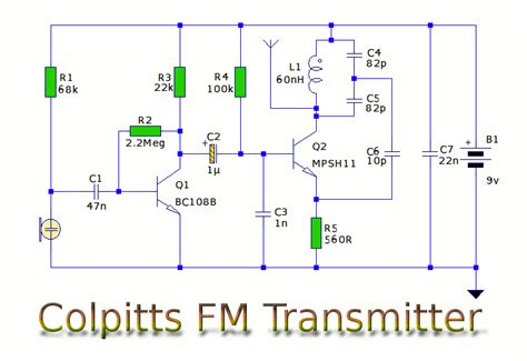 how to build a 2 transistor fm transmitter and range signal why do transistor transmitters not base resistor connected to collector instead of