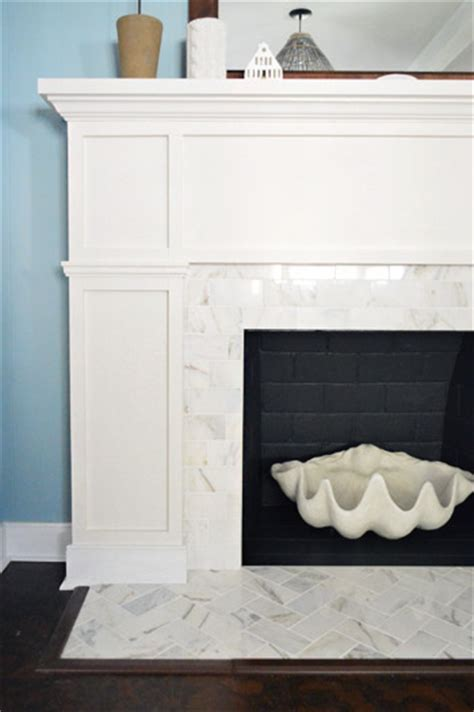Can You Tile Marble Fireplace by House Our 200 Fireplace Makeover Marble