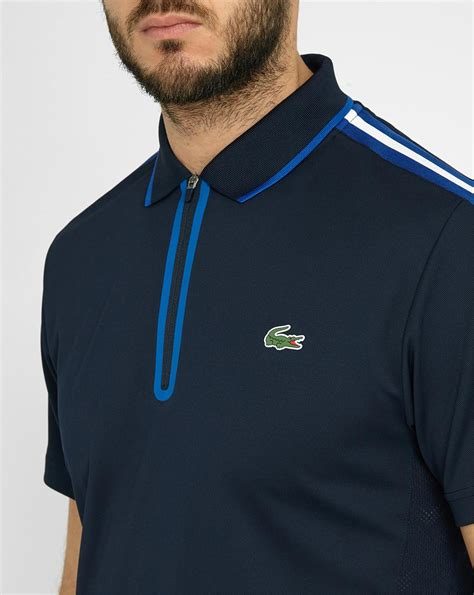 New Lacoste Navy And Green Tshirt For lacoste navy blue and white striped half zip sport