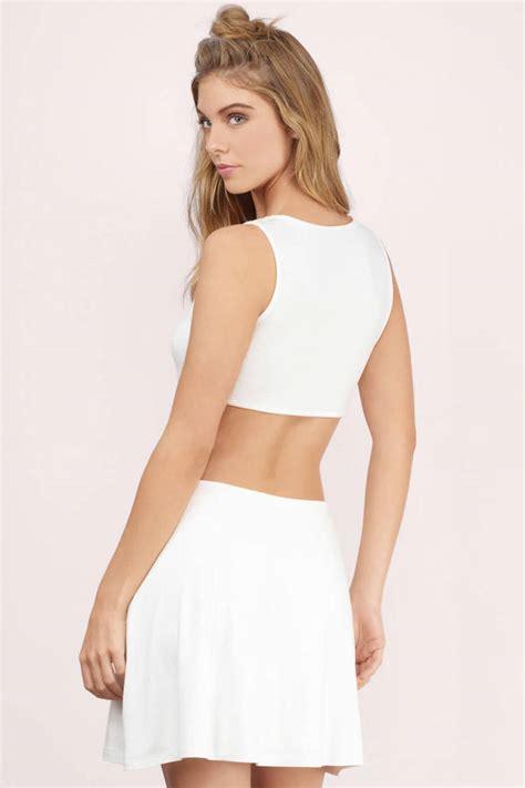 Zyana Dress ivory skater dress white dress a line dress ivory