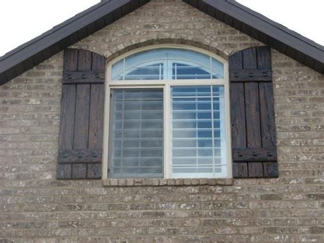 Log Cabin Shutters by Arched Rustic Shutters Cabin Idea S