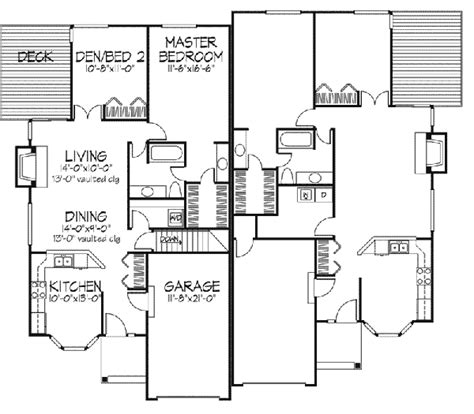 ranch duplex floor plans linton ranch style duplex plan 072d 0226 house plans and