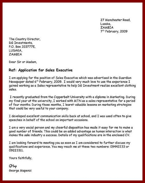 How To Write A Application Letter Exle how to write an application letter for bursary