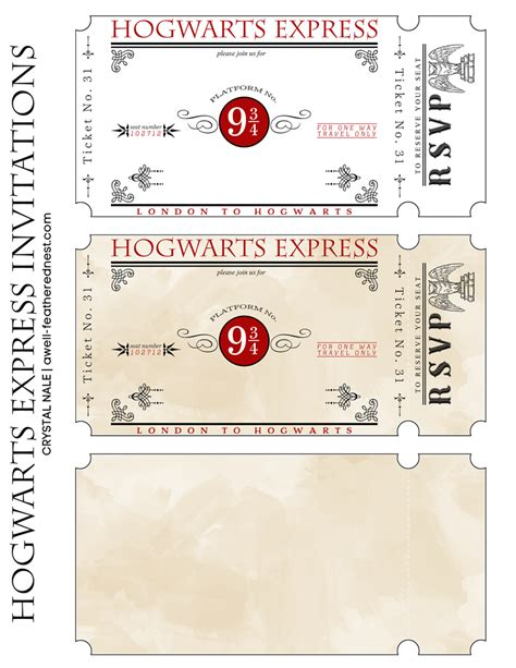 printable hogwarts invitation a well feathered nest harry potter party the invitations