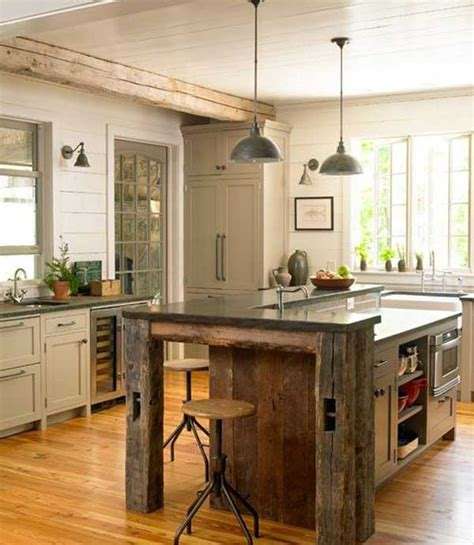 rustic kitchen island ideas 32 simple rustic kitchen islands amazing diy
