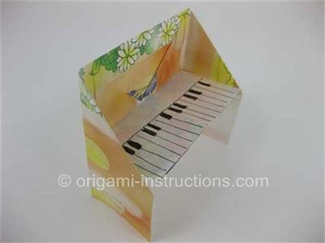 Origami Piano Bench - origami piano folding how to make origami piano