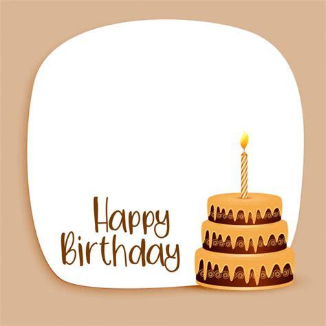 happy birthday text design vector free download happy birthday card design with text space and cake vector