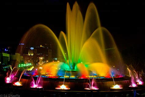 magic of lights fontana barcelona the magic barcelona and its fountains