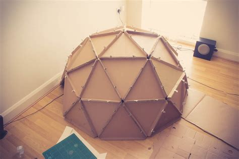 How To Make A Paper Geodesic Dome - 1000 images about paper and cardboard construction