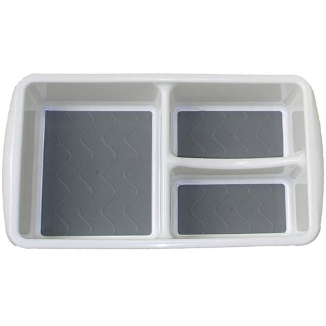 Plastic Drawer Organizer Bins by Plastic Bin Organizer Three Compartments In Drawer Bins