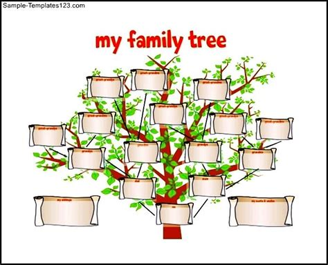 family tree template for kids free pdf format sle
