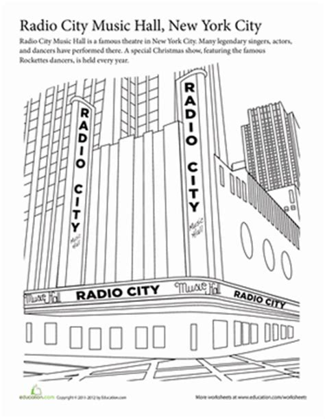 rockettes coloring page summer vacation coloring radio city music hall