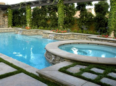 Backyard Pools Spas Luxurious Design For Outdoor Rooms Hgtv