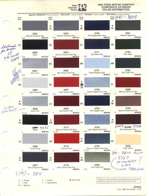 ford color codes ford interior color code chart billingsblessingbags org