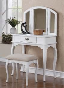 Bedroom Vanity White Chantal White Makeup Dressing Table W Bench Traditional