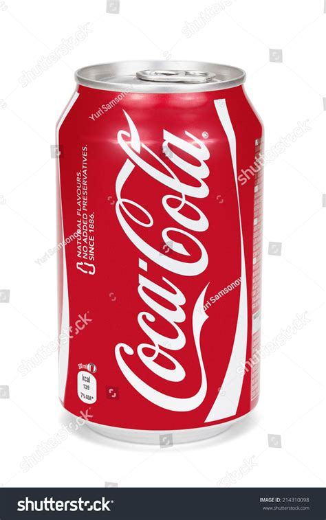 estonia august 16 2014 cocacola can stock photo 214310098