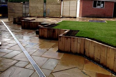 timber walling wooden garden walls hardwood timber