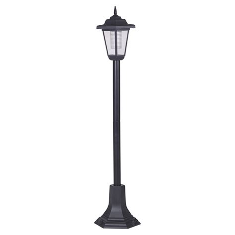 lantern post light outdoor solar powered garden lights lantern l black led pathway