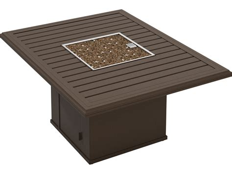 rectangle pit table tropitone bachetto aluminum 54 x 42 rectangular pit