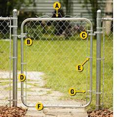 home depot chain link gate chain link gate assembling and hanging guide at the home