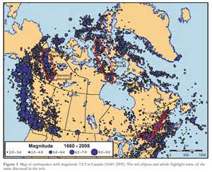 canada earthquake map canada s earthquakes the the bad and the