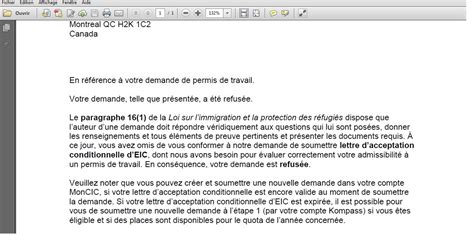 Lettre De Refus De Visa Canada Recensement Des Refus De Pvt Canada 2015 Pour Les Fran 231 Ais Page 12