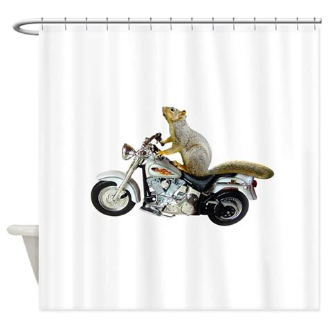 motorcycle shower curtain motorcycle squirrel shower curtain by catsclips