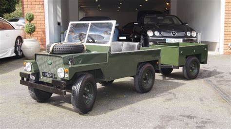 land rover kid used land rover defender electric car trailer in
