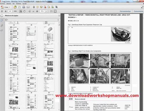 smart car fortwo workshop service repair manual