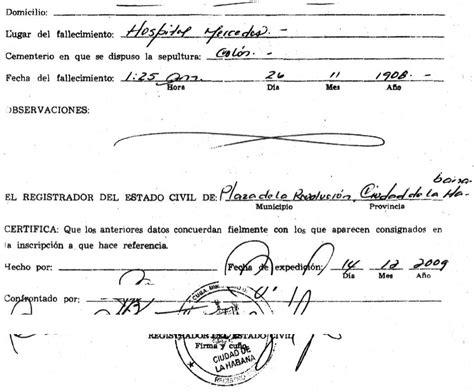 Cuba Birth Records Cuban Certificate Cubacityhall