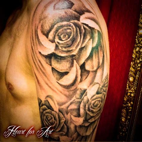 angel and rose tattoo and roses sleeve tattoos tattoos