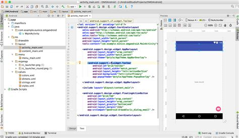 android studio screen layout beginning android development part one installing android