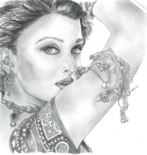 simple pencil penting drawing sketch face cute woman