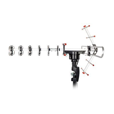 range 1080p outdoor lified antenna tv 360 rotor 38db uhf vhf fm 180miles ebay