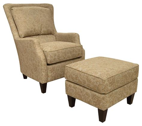 England Loren Transitional Styled Accent Chair And Ottoman Ottoman Furniture Uk