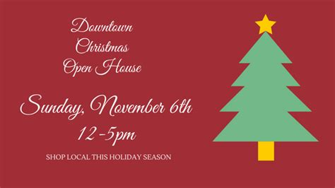 downtown christmas open house is this sunday laurel